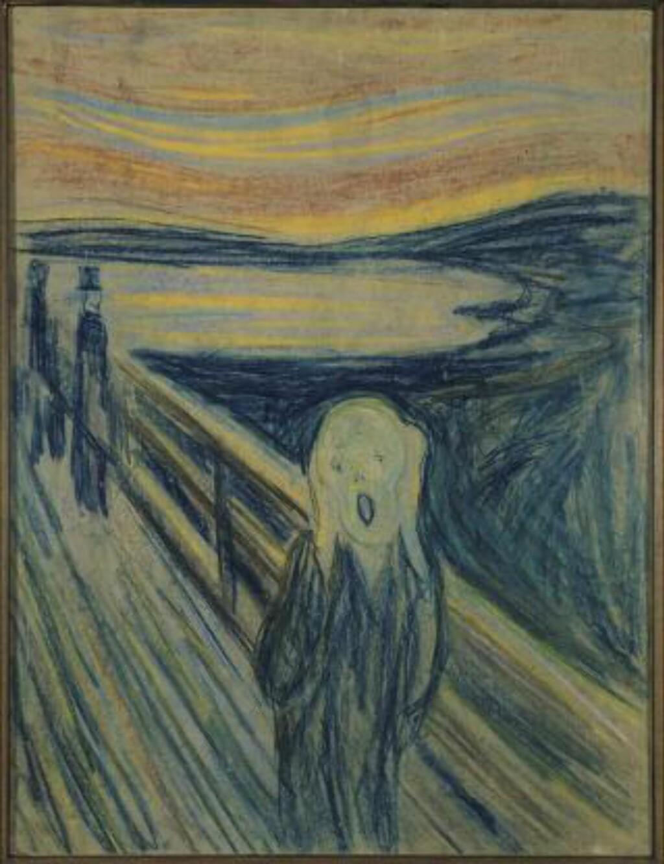 «SKRIK» (1893): Munch-museets pastellversjon. Foto: Skrik, 1893 © Munch-museet/Munch-Ellingsen Gruppen/Bono 2012