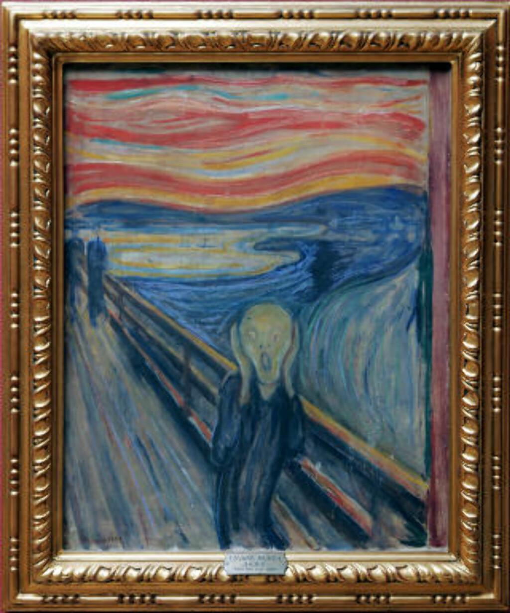 «SKRIK» (1893): Nasjonalgalleriets maleri. Foto: Heiko Junge / SCANPIX