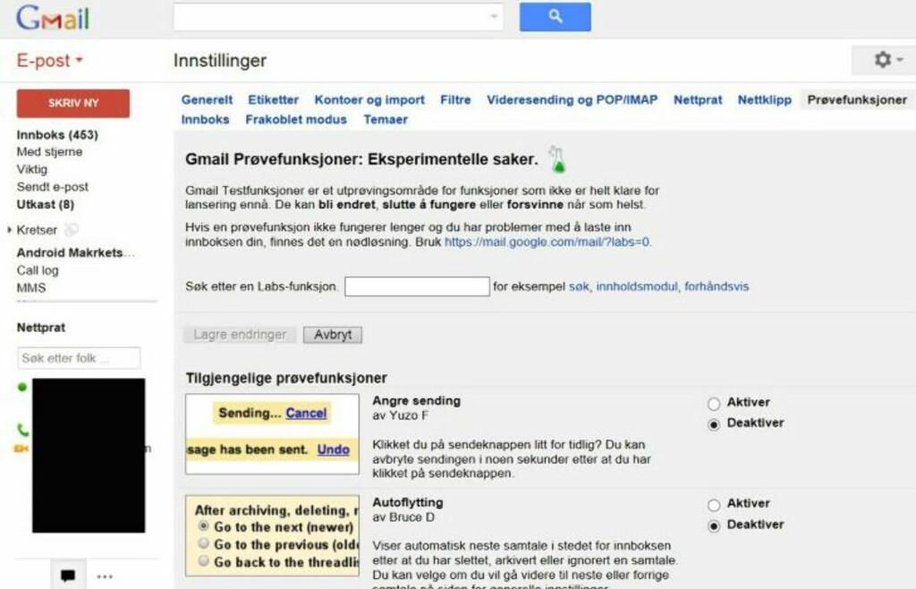 PRØV: Google og Gmail tester stadig ut nye funksjoner og tjenester. Du kan også få teste nye saker om du følger dette tipset. HjemmePC