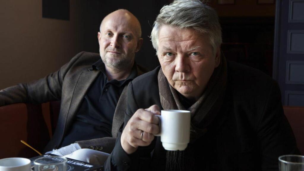POETER: Litterært samarbeid mellom forfatter Lars Saabye Christensen og Tom Stalsberg, journalist og poet. Foto: Andes Grønneberg