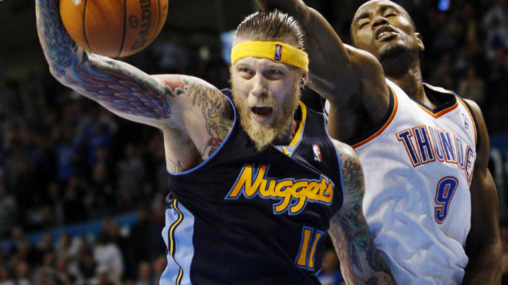 ETTERFORSKES: Denver Nuggets-spiller Chris Andersen er under etterforskning etter mistanke om besittelse av barnepornografi. Foto: AP Photo/Sue Ogrocki