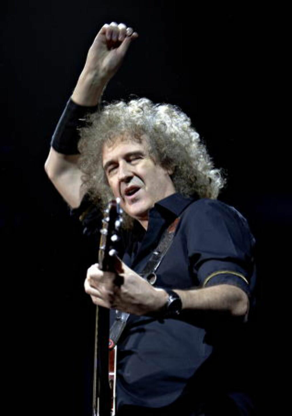 SPESIALFRAMFØRING: Brian May og resten av Queen har store planer for 10- årsjubileumet til forestillingen «We Will Rock You». Foto: lars Eivind Bones