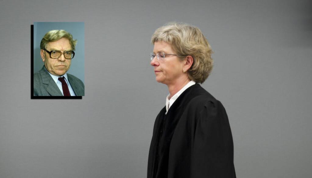FIKK DØDSBUDSKAP: Tingrettsdommer Wenche Elizabeth Arntzen mistet sin far, juristen Andreas Arntzen, mandag. Foto: NTB Scanpix
