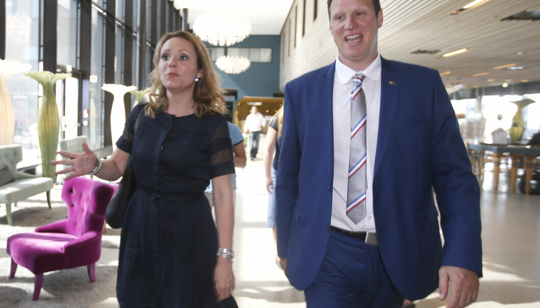 UTFORDRENDE FORHOLD: Tom Tvedt innrømmer at han og Linda Hofstad Helleland aldri helt fant tonen. Foto: Vidar Ruud / NTB scanpix