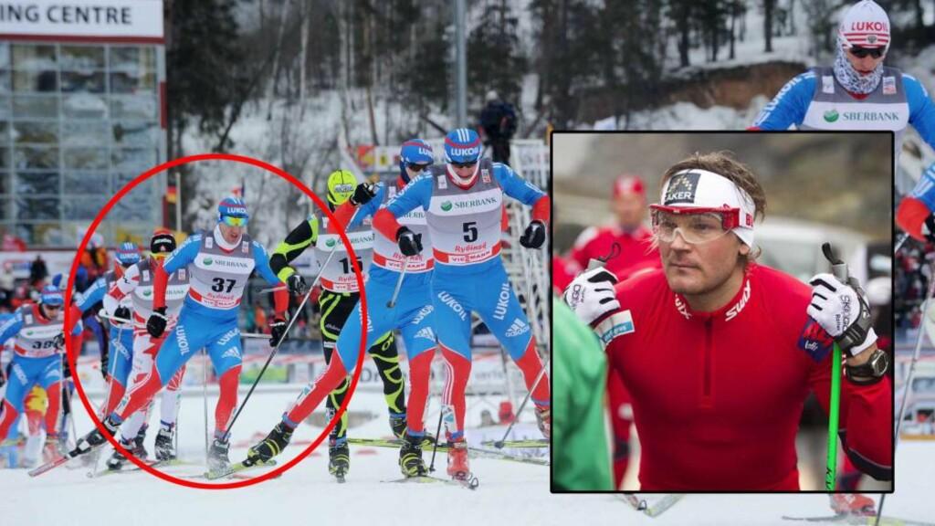 COMEBACK: Jevgenij Dementjev gjorde comeback i verdenscupen i går og havnet på 4. plass i Rybinsk. Øystein Pettersen reagerer på NRK-kommentator som omtalte russeren som  «Gamle, gode Demetjev». Foto: Heiko Junge / Scanpix og AFP PHOTO / NATALIA KOLESNIKOVA.