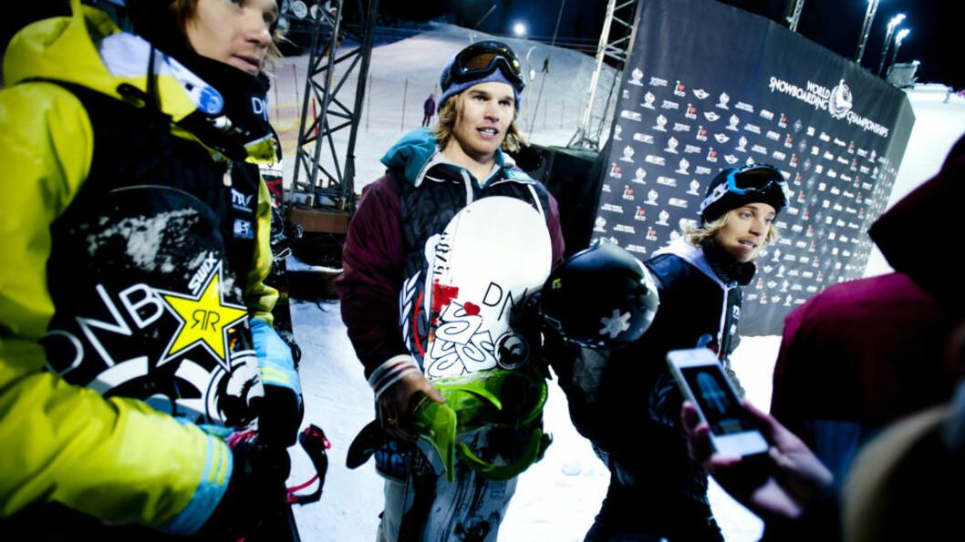 <strong>TRIST TRIO:</strong> Roger Kleivdal, Tore Holvik og Fredrik Austbø sviktet i semifinalen i halfpipe i ettermiddag. Foto: Thomas Rasmus Skaug / Dagbladet