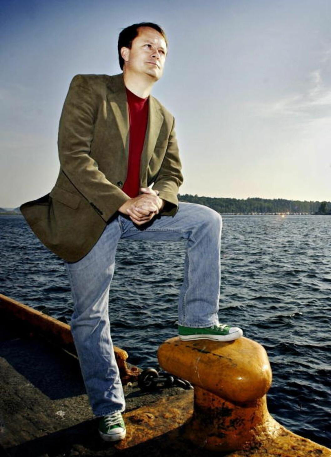 <strong>DYP SORG:</strong> Jan Harsem mistet kona si i Scandinavian Star-brannen. Han forteller at krimtenikernes innsats var viktig for de overlevende og etterlatte. Foto: John T. Pedersen/Dagbladet