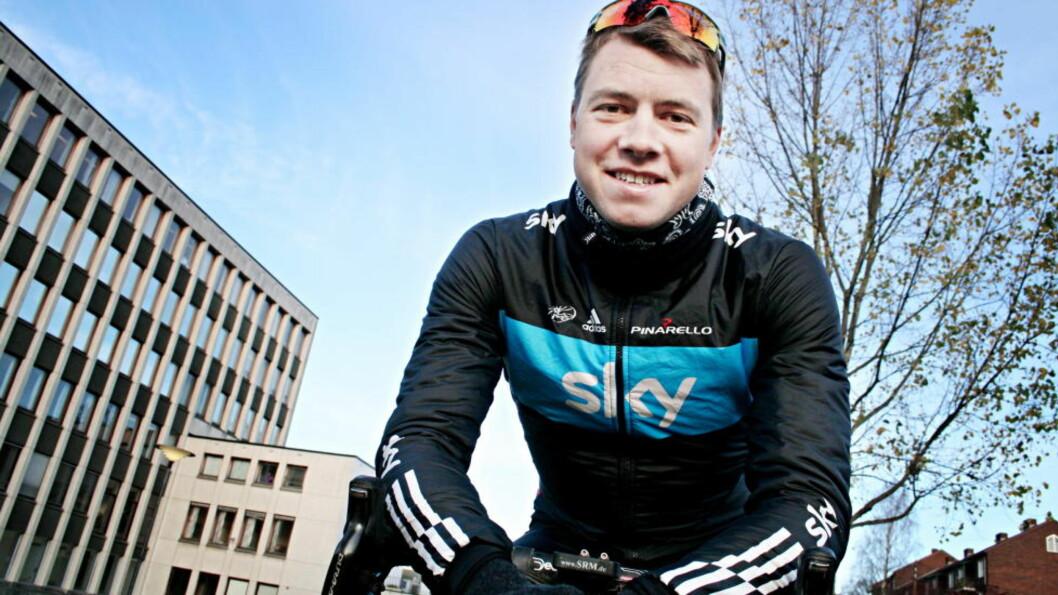 <strong>STÅR OVER:</strong> Sykkelproffen Edvald Boasson Hagen har pådratt seg en forkjølelse og stiller ikke i Omloop Het Nieuwsblad lørdag. Foto: Fredrik Økstad Sandberg / Dagbladet