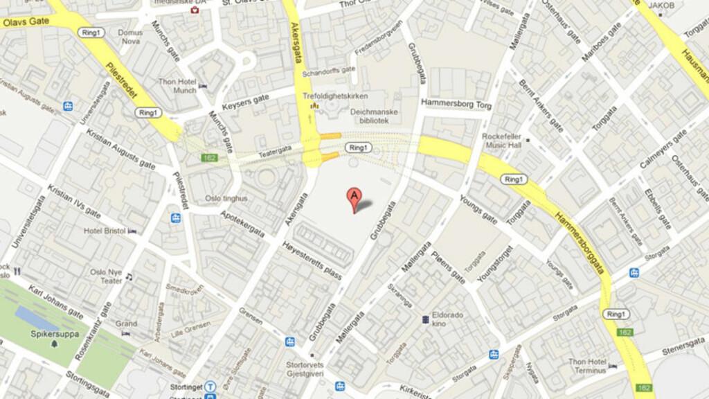 kart oslo sentrum Regjeringskvartalet borte fra Google kart   Dagbladet kart oslo sentrum