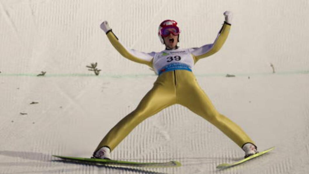 <strong>VANT:</strong>Slovenske Robert Kranjec tok gullet i Vikersund. Foto: Terje Bendiksby / Scanpix