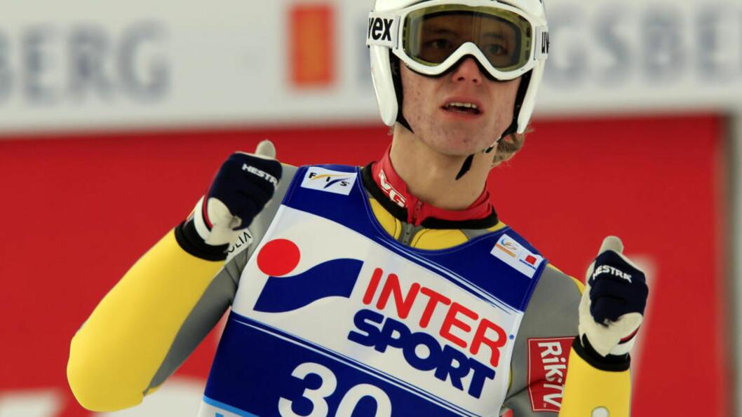 <strong>NUMMER TO:</strong> Rune Velta vant VM-sølv i Vikersund. Foto: Lise Åserud / Scanpix