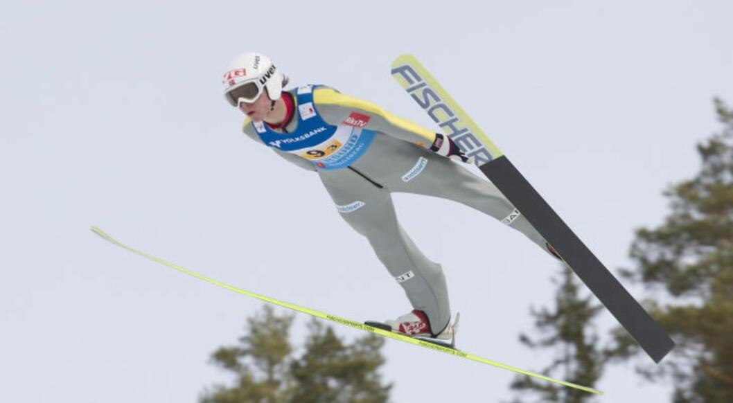 <strong>I FORM:</strong> Rune Velta var den eneste på det norske laget som imponerte søndag.  Foto: Terje Bendiksby / Scanpix