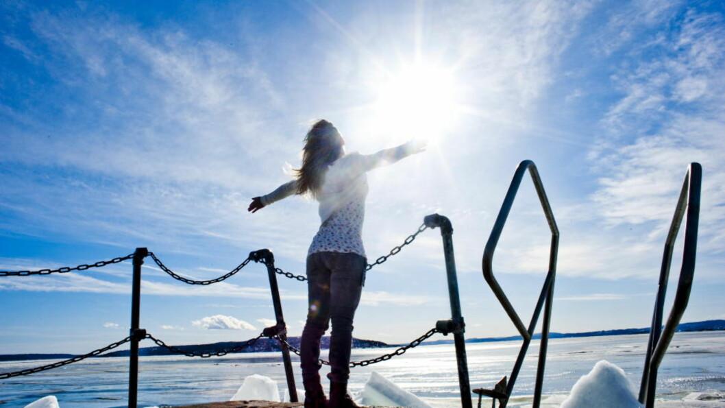 <strong>VÅRVÆR:</strong> Statistis kommer våren først til Oslo den 17. mars. Men utsiktene for Øst- og Sørlandet de nærmeste dagene tyder på temperaturer på over 10 grader. ' Foto: Thomas Rasmus Skaug  / Dagbladet