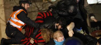 Fjernet demonstranter etter fem måneder