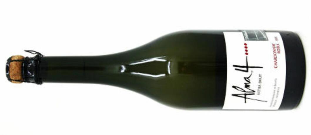 <strong>STYR UNNA:</strong> Alma 4 Pinot Chardonnay 2008 Extra Brut fra Argentina får bare 60 poeng. Testens eneste ener.