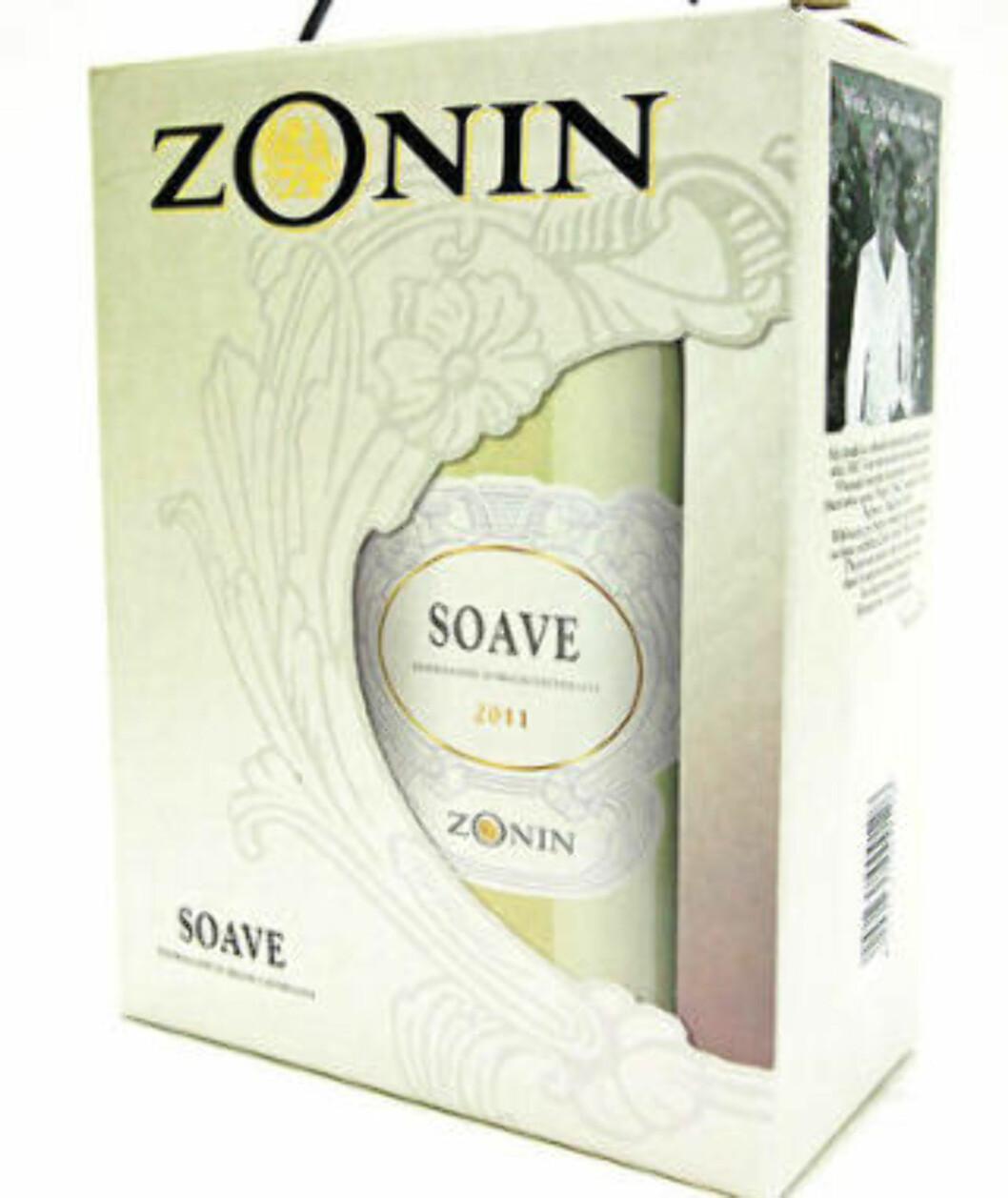 <strong>DÅRLIG KJØP:</strong> Zonin Soave 2011 - vær så snill å ikke la dette bli en bestselger, ber vineksperten.