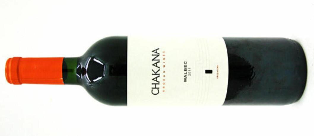 <strong>BILLIG OG GOD:</strong> Chakana Malbec 2011 koster 99,90 - en flott vin fra Argentina.