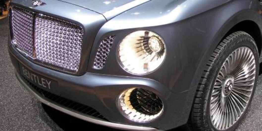 <strong>KRAFTIG:</strong> Ikke uventet er det Bentleys seks liter store V12-er med twinturbo som sørger for framdriften i EXP 9 F. FOTO: Martin Jansen