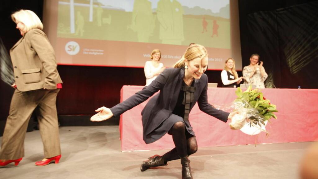 FIKK NØKKELEN: Inga Marte Thorkildsen (SV) er ny barne-, likestillings- og inkluderingsminister. Foto: Anette Karlsen / Scanpix