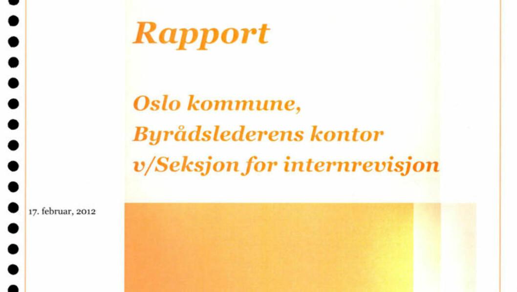 <strong>NY RAPPORT:</strong> En ny rapport fra PricewaterhouseCoopers (PWC) fast at Oslo kommune mangler kontroll på lønns- og arbeidsforhold i bedriften.