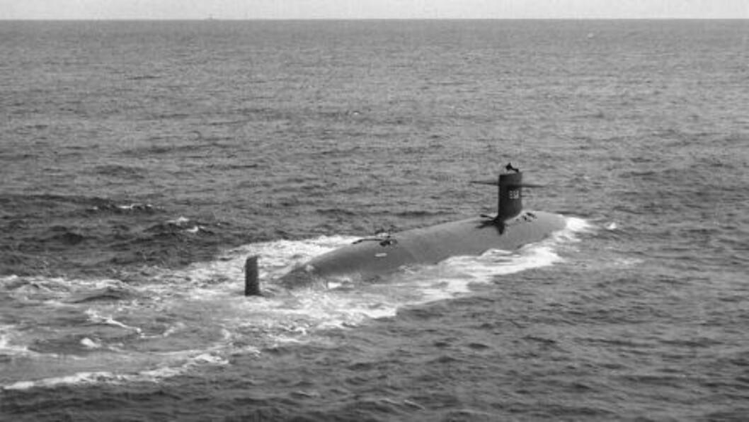 GIKK NED:  Titanic-ekspedisjonen var en dekkoperasjon blant annet for å finne denne ubåten, Tresher, ifølge en tidligere amerikansk etterretningstjenestemann. Foto: US Navy