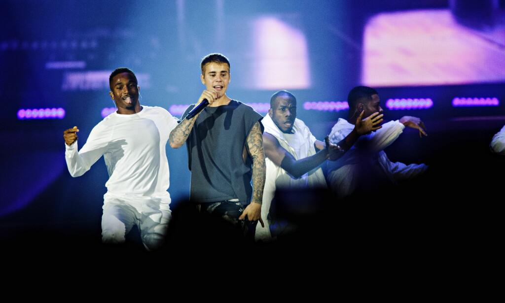 I NORGE: Justin Bieber spilte for 24 000 elleville publikummere i Telenor Arena i kveld. I morgen gjentar han prestasjonen. Foto: Nina Hansen / Dagbladet