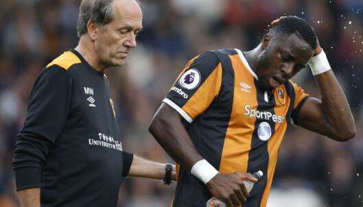 <strong>BYTTET UT FØR PAUSE:</strong> En tydelig skuffet Adama Diomande fikk ikke fullføre kampen mot Liverpool. Foto: Scanpix