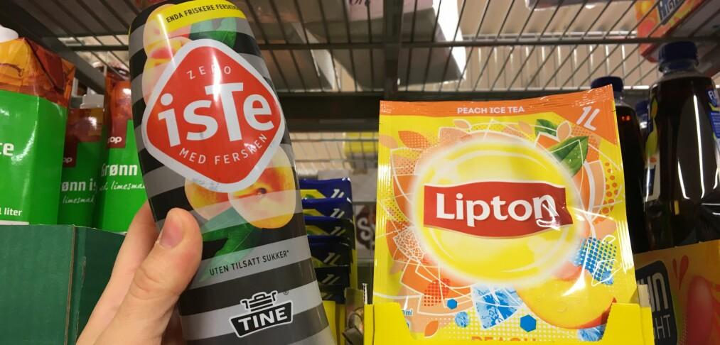 Isteen til venstre inneholder 0 prosent sukker, likevel betaler du sukkeravgift