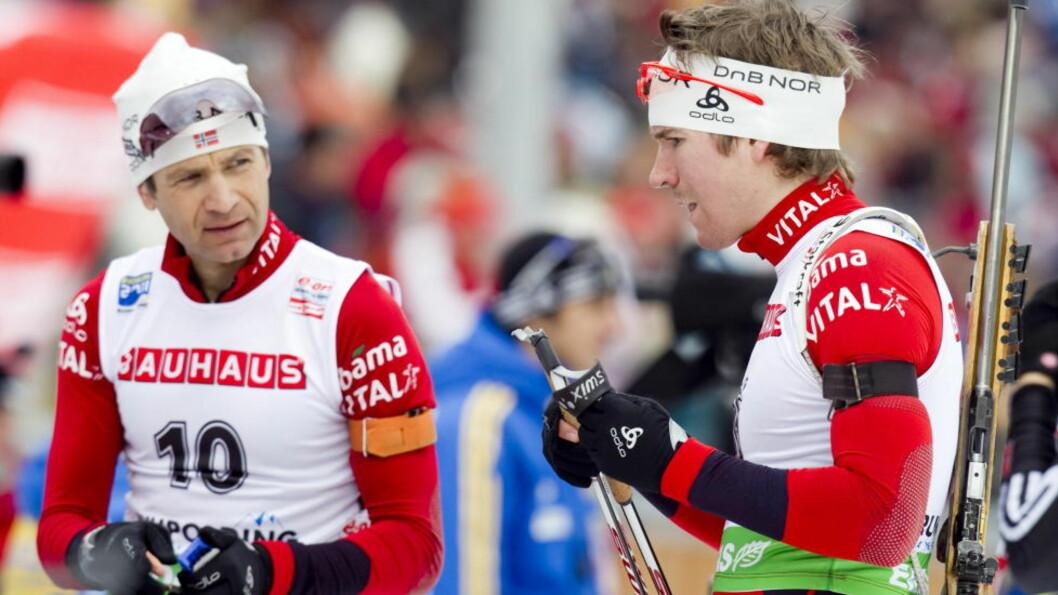 <strong>VIL FJERNE FORBUDET:</strong> Skiskytterne Ole Einar Bjørndalen og Egil Hegle Svendsen er blant utøverne som har tatt til orde for å fjerne forbudet mot bruk av høydehus for norske toppidrettsutøvere. Foto: Heiko Junge, Scanpix
