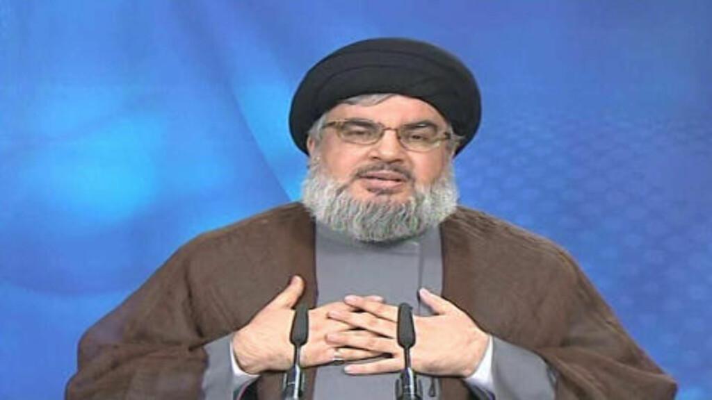 ADVARTE: Allerede i sommer sa Hizbollah-leder Sayyed Hassan Nasrallah at de hadde avslørt to CIA-undercoveragenter. Nå skal flere titalls agenter være arrestert i Libanon og Iran. Foto: AP Photo/Al-Manar TV via APTN/FILE/Scanpix