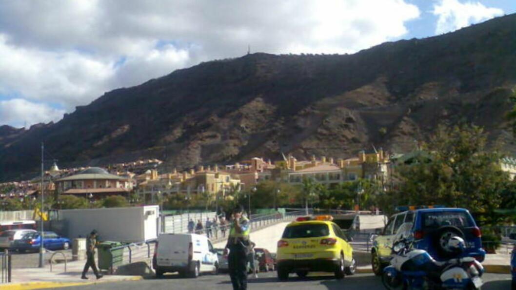 <strong>GASSEKSPLOSJON:</strong> Det har vært en eksplosjon på Cordial Mogán Playa i byen Puerto Mogan på Gran Canaria. Foto: Eva Brandal Laran