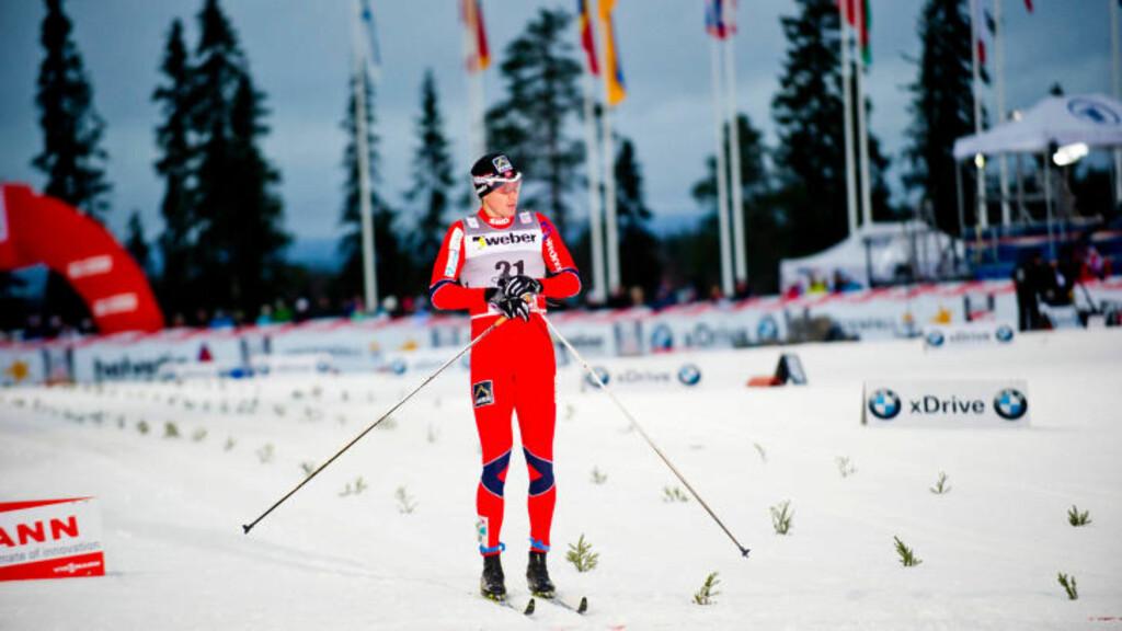 SKUFFET: Ola Vigen Hattestad falt i siste sving i sin kvartfinale, og det var det.Foto:  Rasmus Skaug / Dagbladet