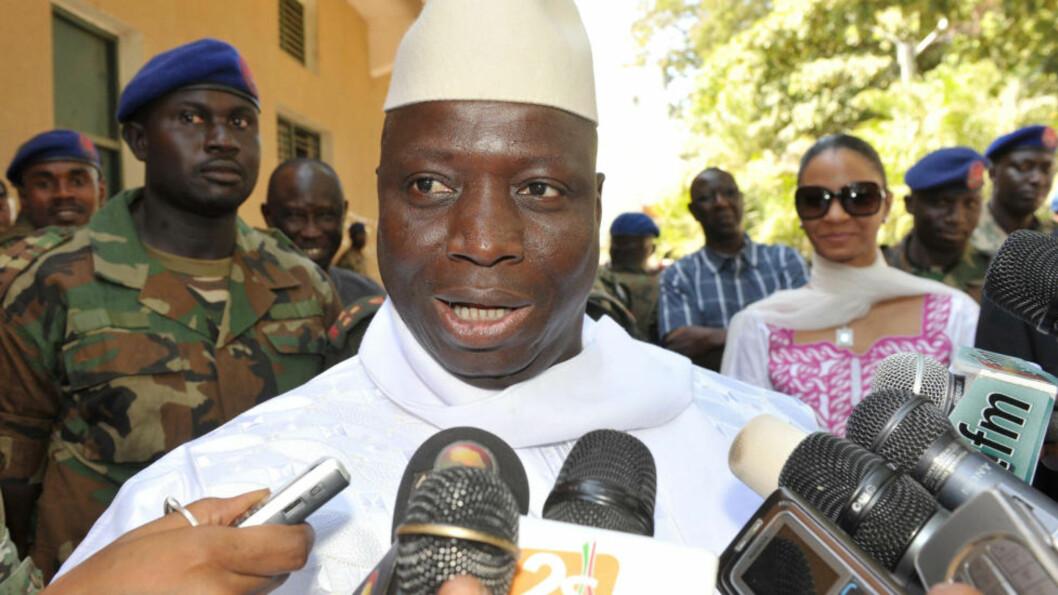 GJENVALGT: Yahya Jammeh. Foto: AFP PHOTO / SEYLLOU