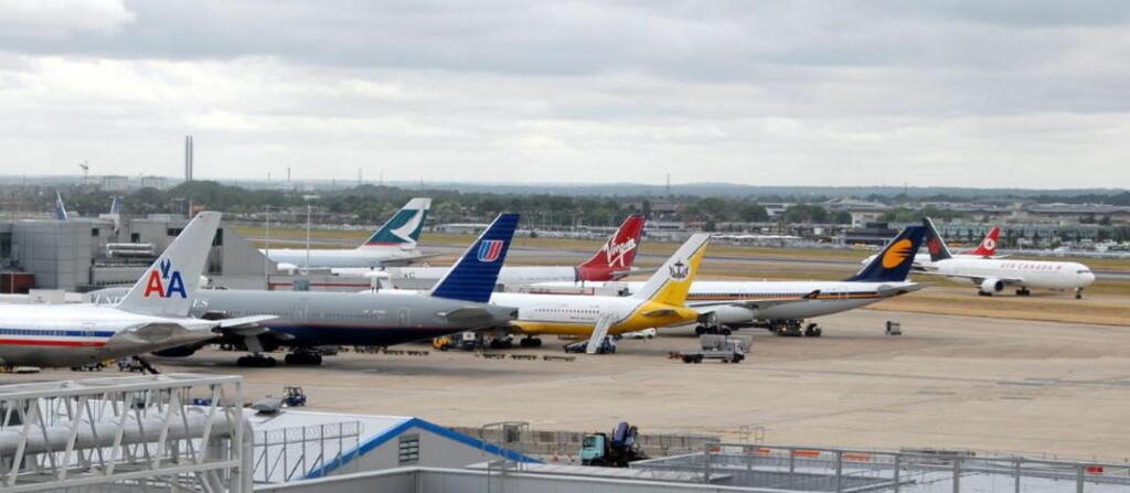 FLYPLASSKAOS: Det er ventet at køene i passkontrollen på Heathrow flyplass vil være størst.  Foto: Keith Hammett/Dagbladet