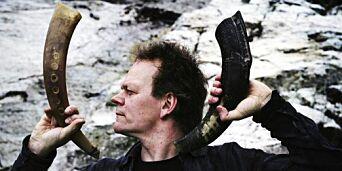 image: Til Vossa Jazz med saksofon og bukkehorn