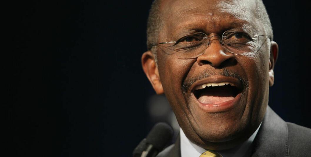 <strong>TREKKER SEG:</strong> Herman Cain trekker seg som presidentkandidat. Foto: Getty Images/AFP
