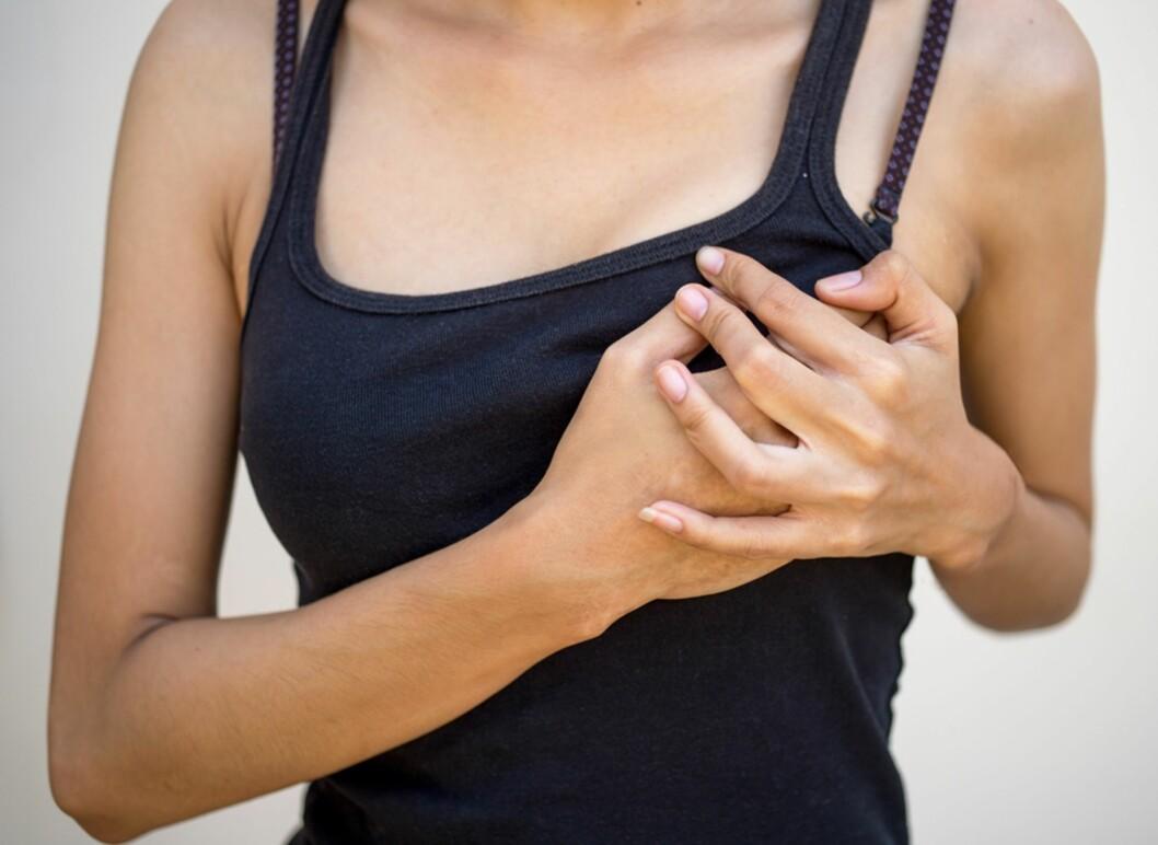 BRYSTBETENNELSE: Kan utvikle seg til abscess dersom det ikke blir behandlet i tide. Foto: NTB Scanpix / Shutterstock