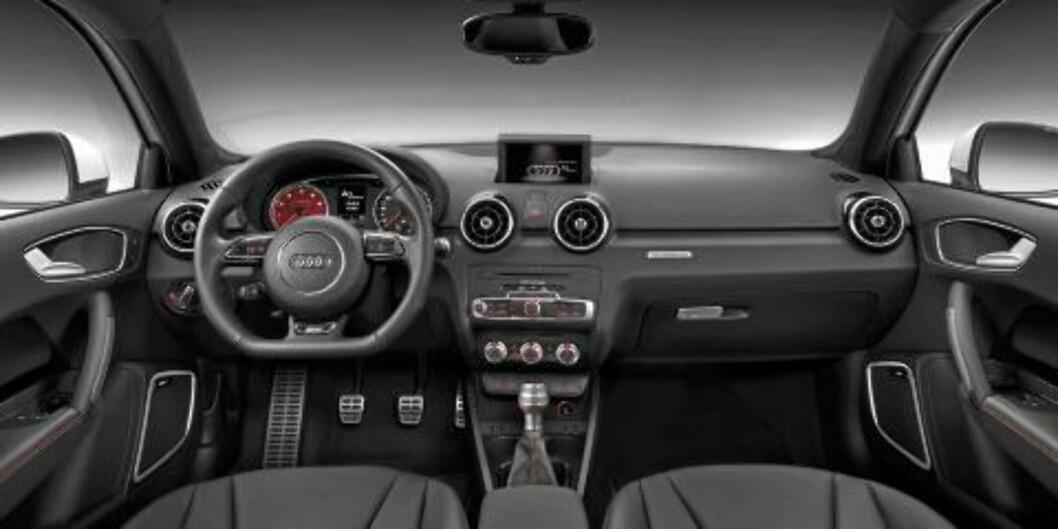 <strong>UTSTYR:</strong> Audi A1 quattro har en solid smørbrødliste med standardutstyr. Foto: Audi