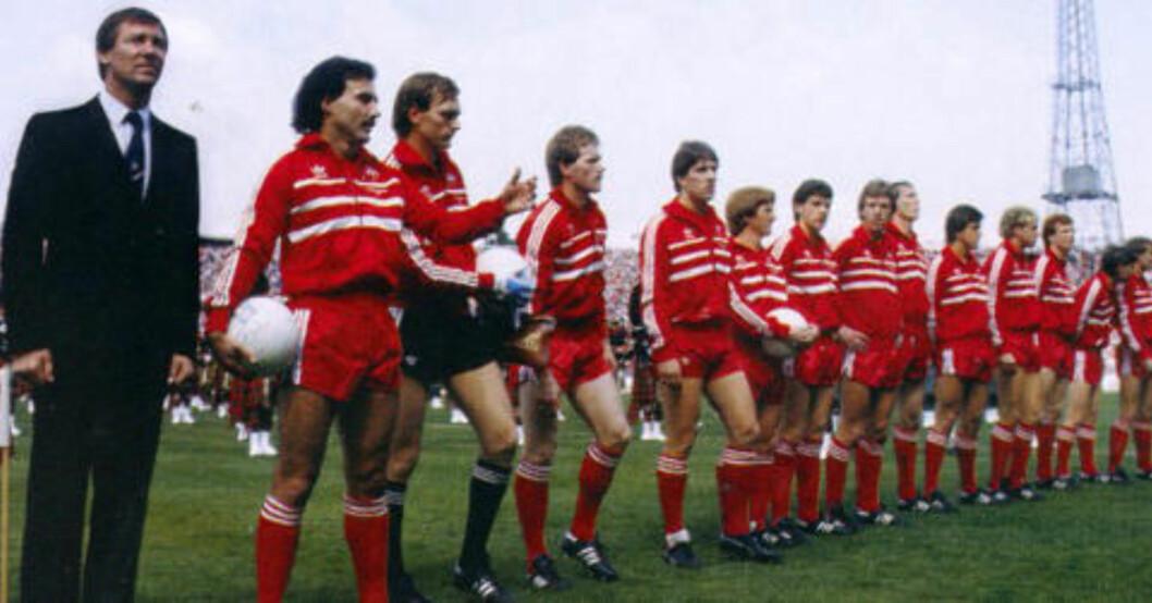 BRAGDEN: Alex Ferguson løftet Aberdeen ut av Celtic og Rangers' skygge og ledet klubben til ligagull og Europa- suksess. Her under den skotske cupfinalen i 1983.