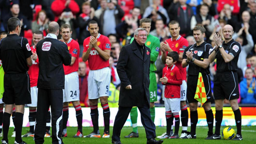 70-0: I dag kommer Blackburn til Old Trafford og da er det igjen duket for å klappe Alex Ferguson inn på «Drømmenes teater» slik det ble gjort da han i høst feiret 25 år i managerstolen hos Manchester United. Foto: AFP PHOTO/GLYN KIRK