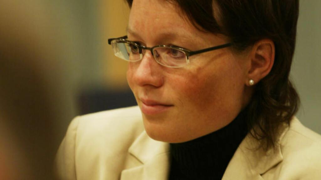 INGEN REPRIMANDE: Parlamentarisk nestleder Line Henriette Holten Hjemdal har ingen planer om å stramme opp fylkeslederen i ungdomspartiet til KrF i Hordaland, Emil André Erstad. Foto: Terje Bendiksby / SCANPIX .
