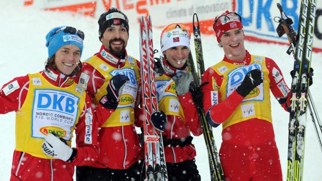 <strong>BEST I GÅR:</strong> Best i dag. Mikko Kokslien og Magnus H. Moan tok dobbeltseier. Her fra gårsdagens lagseier.Foto: SCANPIX/EPA/PATRICK SEEGER