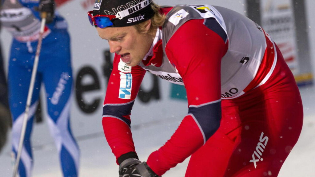 NUMMER FIRE: Eirik Brandsdal ble nummer fire på dagens lagsprint. Foto: Terje Bendiksby / Scanpix
