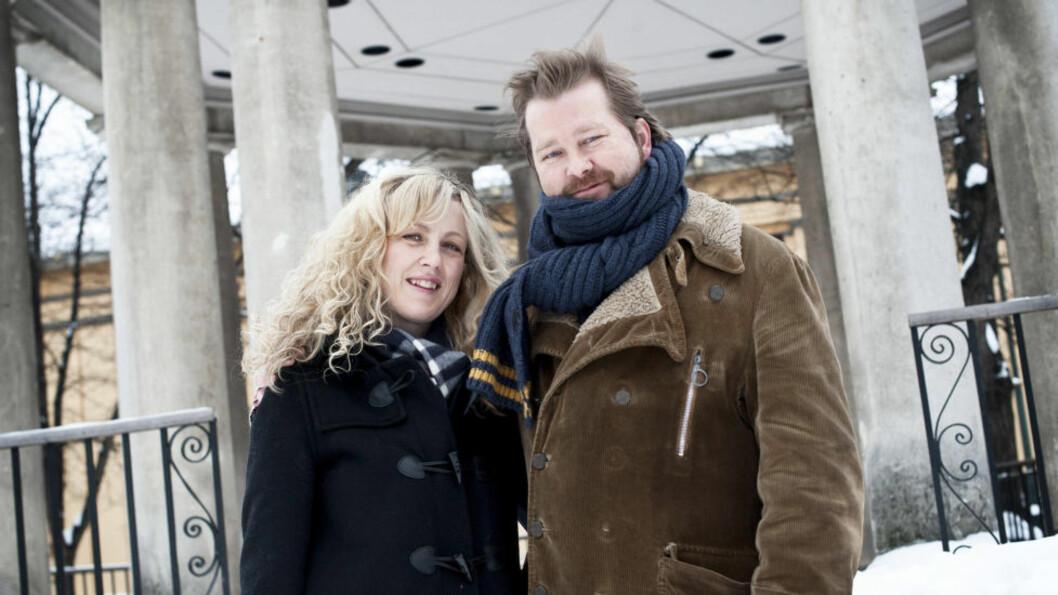<strong>PÅ ENGELSK OG NORSK:</strong> Marian Saastad Ottesen og Fridtjov Såheim håper amerikanerne kan like de norske elementene i «Lilyhammer» som har premiere i morgen. Foto: Melisa Fajkovic / Dagbladet