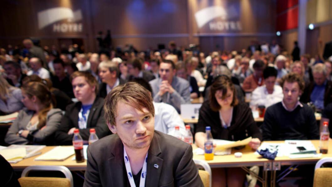 <strong>Reagerer:</strong> Leder i Unge Høyre, Henrik Asheim. Foto: Kyrre Lien / Scanpix .