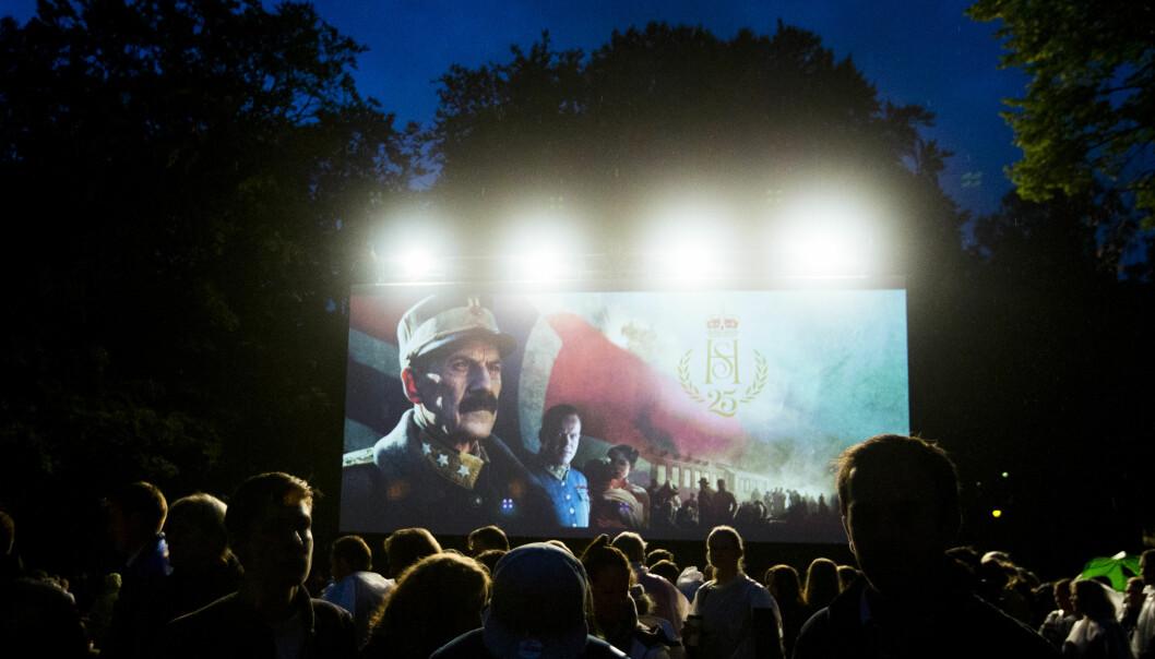 UTEKINO: «Kongens nei» ble vist i Slottsparken i høst - nå kan det bli en Oscar-nominasjon. Foto: Vegard Wivestad Grøtt / NTB scanpix