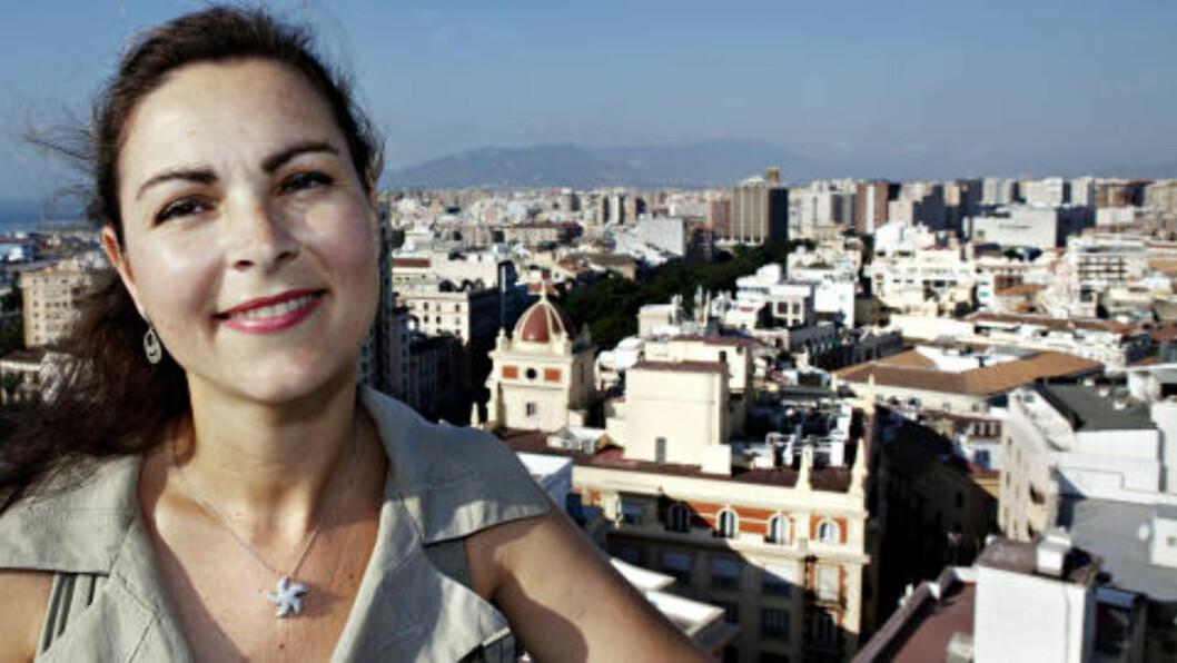 - VI HAR TATT GREP: Byplansjef Maria Carmen García Peña i Málaga er kommet godt i gang.   Foto: NINA HANSEN