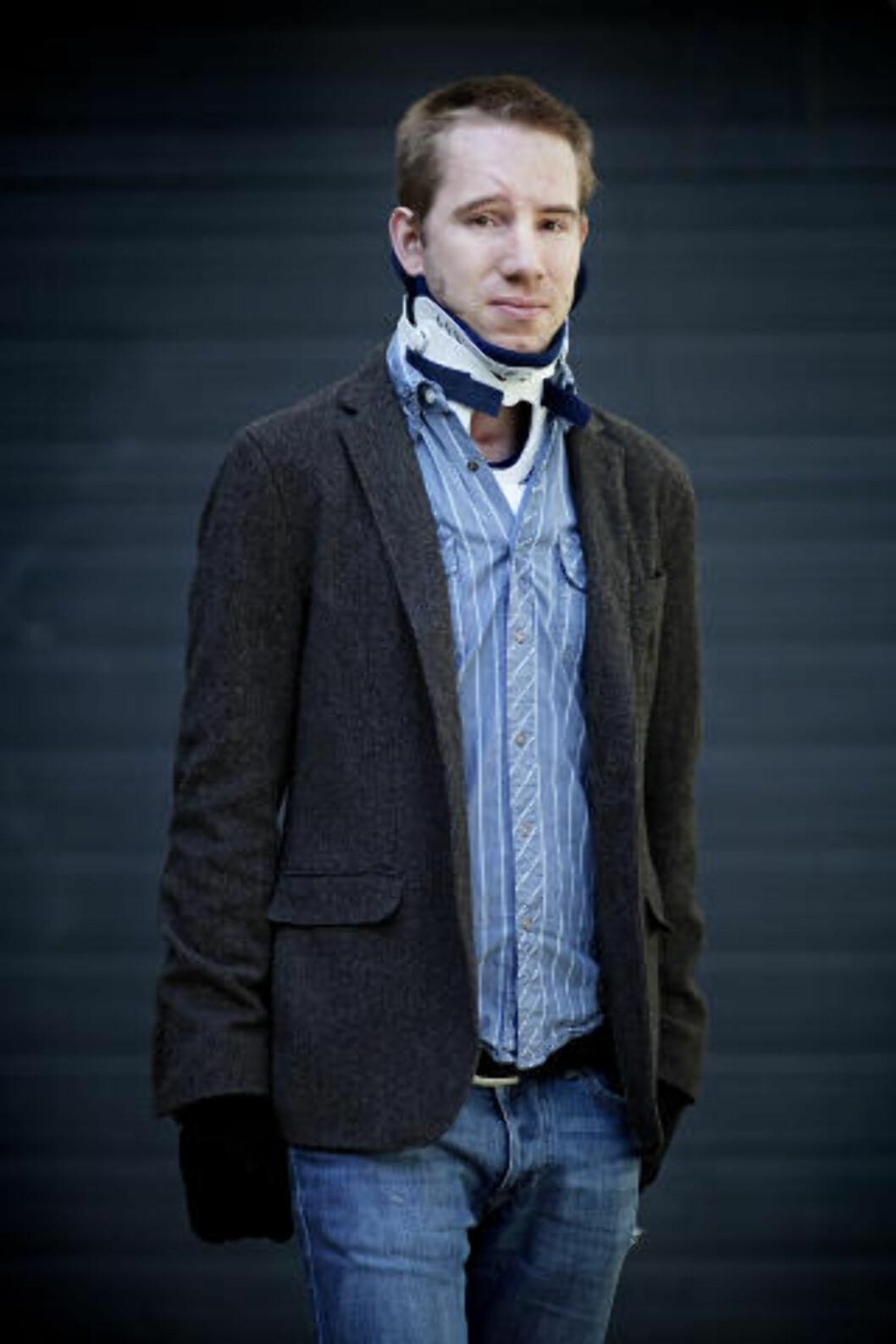 <strong>HUSKER IKKE:</strong> Kristian Rasmussen husker ikke noe av det som skjedde. Terrorens omfang fikk han ingen informasjon før etter lang tid. Legene ville spare ham sjokket. Foto: Jo Straube, Dagbladet