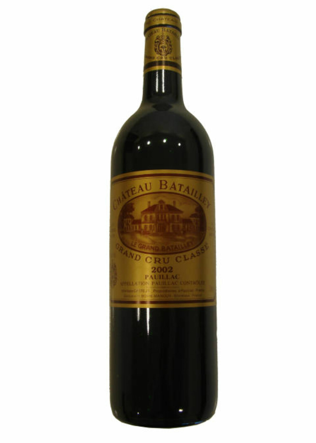 90 POENG: Ch. Batailley 2002 har en klassisk rik, men tett kjerne som avslutter med akkurat nok tanniner til at du vet du er i Bordeaux. Foto: Produsenten