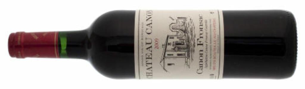 CHATEAU CANON 2009: Wow, så godt, sier vineksperten. Foto: Produsenten